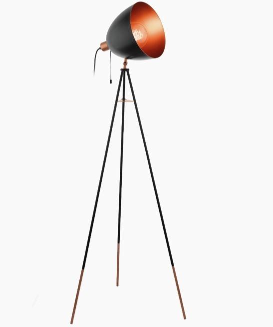 Lampa Podłogowa Trójnóg Vintage Chester Eglo 49386