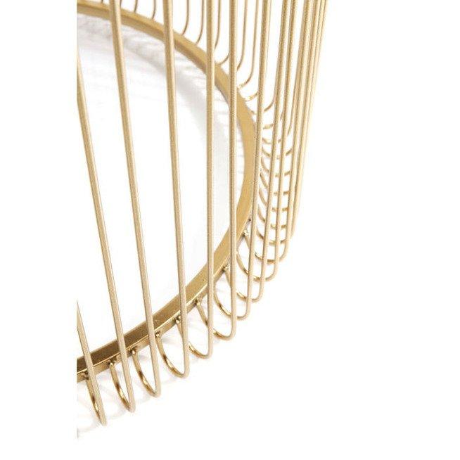 Dwa Złote Stoliki Kawowe Wire Kare Design 83457