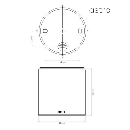 CHROMOWY PLAFON DO ŁAZIENKI IP 65 ASTRO LIGHTING KOS 7175