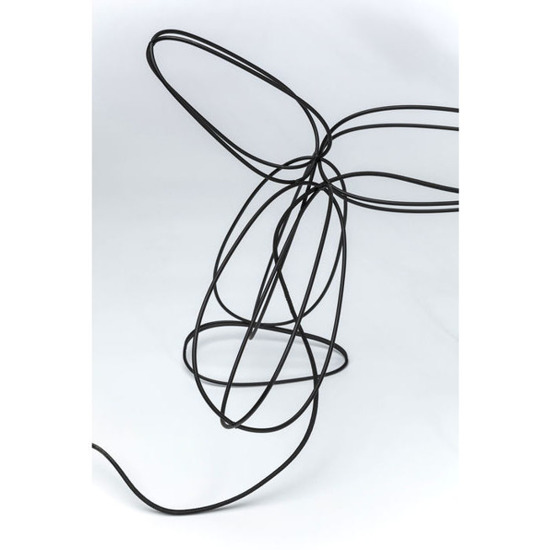 Lampa stołowa Dog Wire Black 38981 Kare Design