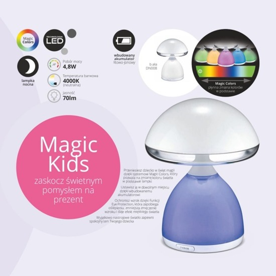 Lampka nocna LED Nilsen Magic kids