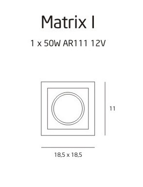 Oprawa halogenowa Matrix I BK H0048 MAXlight