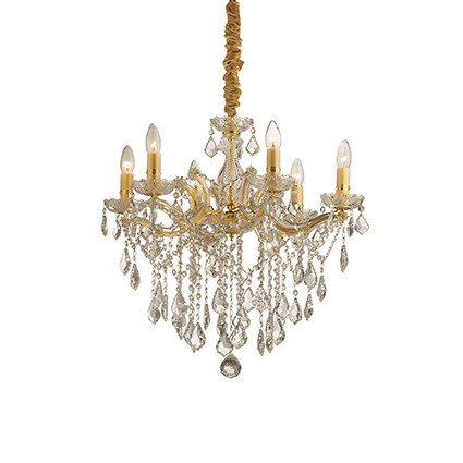 ŻYRANDOL FLORIAN SP6 ORO 035635 IDEAL LUX